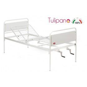 Letto ortopedico due manovelle tre snodi Tulipano -...