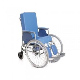Sedia con autospinta anteriore con schienale reclinabile...
