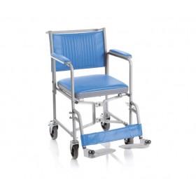 Sedia comoda pieghevole con schienale smontabile e WC - 4...